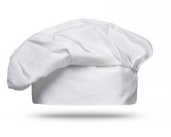 Bavlněná kuchařská čepice NORBERTO - bílá