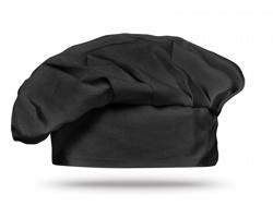 Bavlněná kuchařská čepice NORBERTO - černá