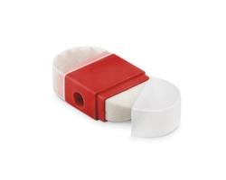 Plastové ořezávátko SPIV s gumou - červená