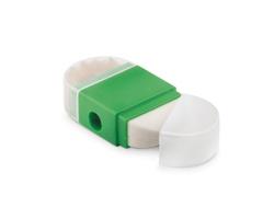 Plastové ořezávátko SPIV s gumou - zelená