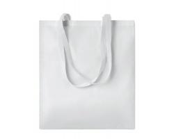 Nákupní taška LESSONS s dlouhými uchy - bílá