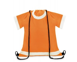 Batoh se šňůrkami LEAVENWORTH ve tvaru trička - oranžová