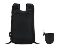 Skládací pevný batoh BARBAE se zapínáním na zip - černá