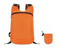 Skládací pevný batoh BARBAE se zapínáním na zip - oranžová