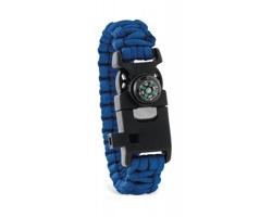 Multifunkční bezpečnostní náramek BARET, 4 funkce - královská modrá
