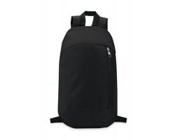 Polyesterový batoh MYOPIA s vertikální kapsou na zip - černá