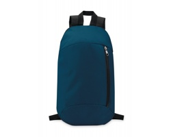 Polyesterový batoh MYOPIA s vertikální kapsou na zip - modrá