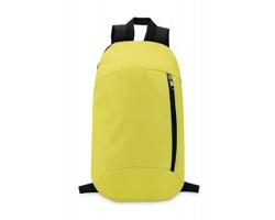Polyesterový batoh MYOPIA s vertikální kapsou na zip - limetková