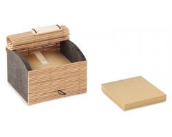 Bambusový zápisník HOARY z recyklovaných papírů, 500 listů - hnědá (dřevo)