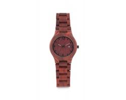 Dřevěné hodinky SLIP v dárkové krabičce - hnědá