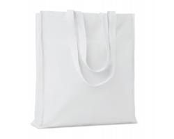 Bavlněná nákupní taška LEMMA s dlouhými uchy - bílá