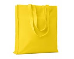 Bavlněná nákupní taška LEMMA s dlouhými uchy - žlutá