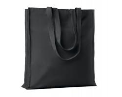 Bavlněná nákupní taška LEMMA s dlouhými uchy - černá