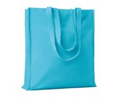 Bavlněná nákupní taška LEMMA s dlouhými uchy - tyrkysová