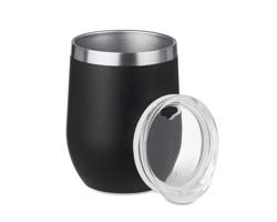 Nerezový hrnek DULL, 350 ml - černá