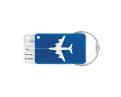 Hliníková jmenovka na zavazadlo NOSHERS - královská modrá