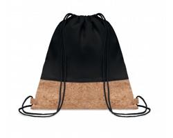 Šňůrkový batoh SIMONS s korkovými detaily - černá