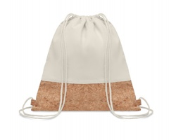 Šňůrkový batoh SIMONS s korkovými detaily - béžová