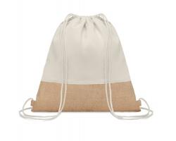 Stahovací batoh z bavlny a juty BOCK - béžová