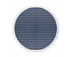Bavlněný ručník RIATA tvaru kruhu - modrá