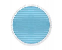 Bavlněný ručník RIATA tvaru kruhu - tyrkysová