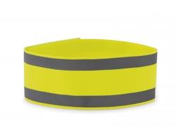 Sportovní páska FUGAE s reflexními pruhy - neonová žlutá