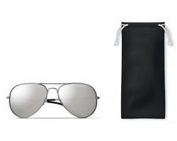 Sluneční RETRO brýle DUKE s barevnými skly - černá