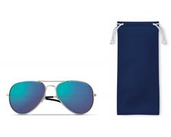 Sluneční RETRO brýle DUKE s barevnými skly - královská modrá