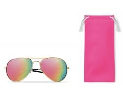 Sluneční RETRO brýle DUKE s barevnými skly - fuchsie