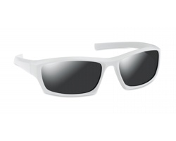 Sportovní sluneční brýle ALTOS se zrcadlovými skly - bílá