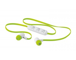 Bluetooth sluchátka HOSING v plastové krabičce - limetková