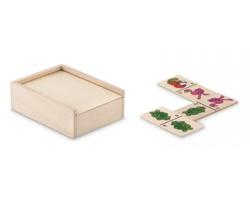 Dřevěné domino HEME s dětskými obrázky - hnědá (dřevo)