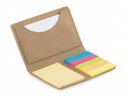 Pouzdro na platební karty LEICESTER se sadou lístků na poznámky - béžová