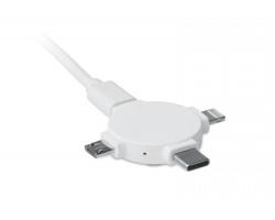 Nabíjecí kabel 3v1 RAYON - bílá