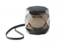 Plastový bezdrátový reproduktor ALLAY s diamantovým vzorem - černá
