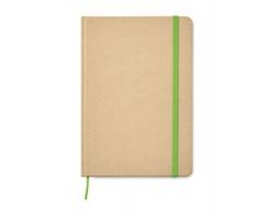 Linkovaný zápisník PILUS z recyklovaného kartonu, formát A5 - limetková