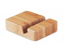 Bambusový stojánek na telefon DYKES - hnědá (dřevo)