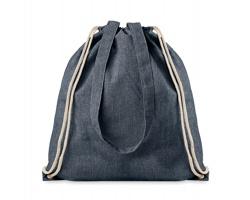 Látková nákupní taška GUST se šňůrkovými popruhy - modrá