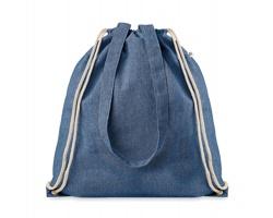 Látková nákupní taška GUST se šňůrkovými popruhy - královská modrá
