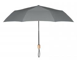 Skládací deštník OSMIC s dřevěným držadlem - šedá