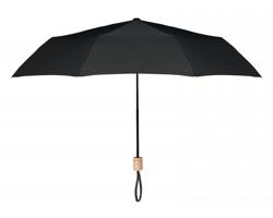 Skládací deštník OSMIC s dřevěným držadlem - černá