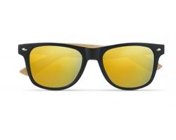 Sluneční brýle PILOT s barevnými zrcadlovými skly - žlutá