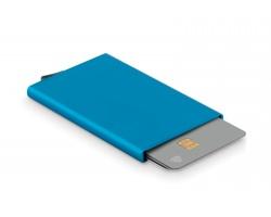 Kovové pouzdro na karty EDMONDS s RFID ochranou - modrá