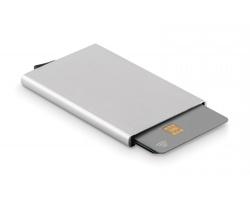 Kovové pouzdro na karty EDMONDS s RFID ochranou - matně stříbrná