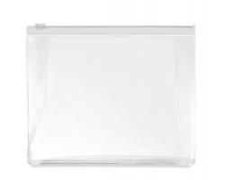 Transparentní kosmetická taška ILEX se zipem - transparentní bílá