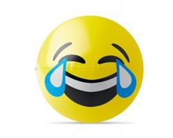Nafukovací plážový míč TRUNK s emotikonem - žlutá