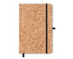 Korkový zápisník ATOPY, formát A5 - černá