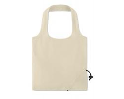 Skládací bavlněná nákupní taška COLAS s krátkými uchy - béžová