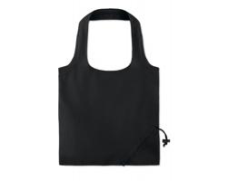 Skládací bavlněná nákupní taška ETHANE s krátkými uchy - černá