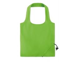 Skládací bavlněná nákupní taška ETHANE s krátkými uchy - limetková